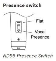 Electro-Voice ND96 Presence Switch